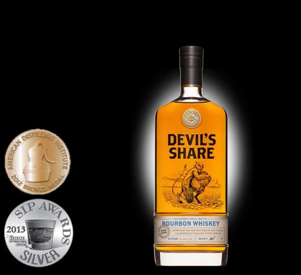 Devils' Share Bourbon Whisky